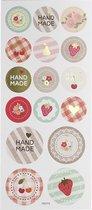Stickers. handmade. 10x23 cm. 1 vel