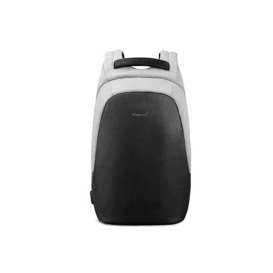 Tigernu Trendy - laptop rugzak 15,6 inch - rugtas - laptoptas - grijs - rugzak heren vrouwen - anti diefstal USB