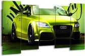 Canvas schilderij Audi   Groen, Zwart   150x80cm 5Luik