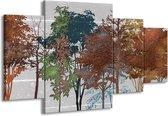 Schilderij   Canvas Schilderij Natuur   Grijs, Bruin   160x90cm 4Luik   Foto print op Canvas