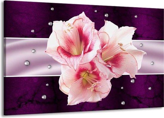 Canvas schilderij Tuin | Paars, Roze, Wit | 140x90cm 1Luik