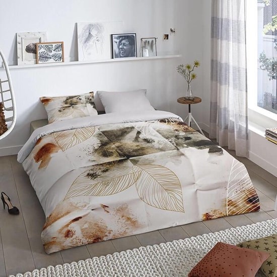 Dekbedovertrek Chrissi –  Lits-jumeaux (240 x 200/220 cm) – Katoen – Grijs |  Meerkleurig | Multi | Multicolor – Good Morning