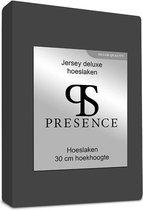 Hoeslaken - Antraciet - 120x200 cm - Jersey Stretch - Presence