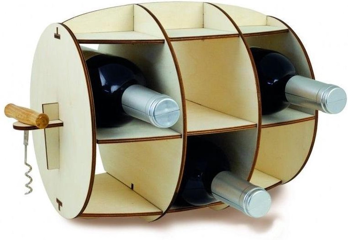 Invotis - Wine Barrel - Wine Rack - (incl. Corkscrew) - INVOTIS