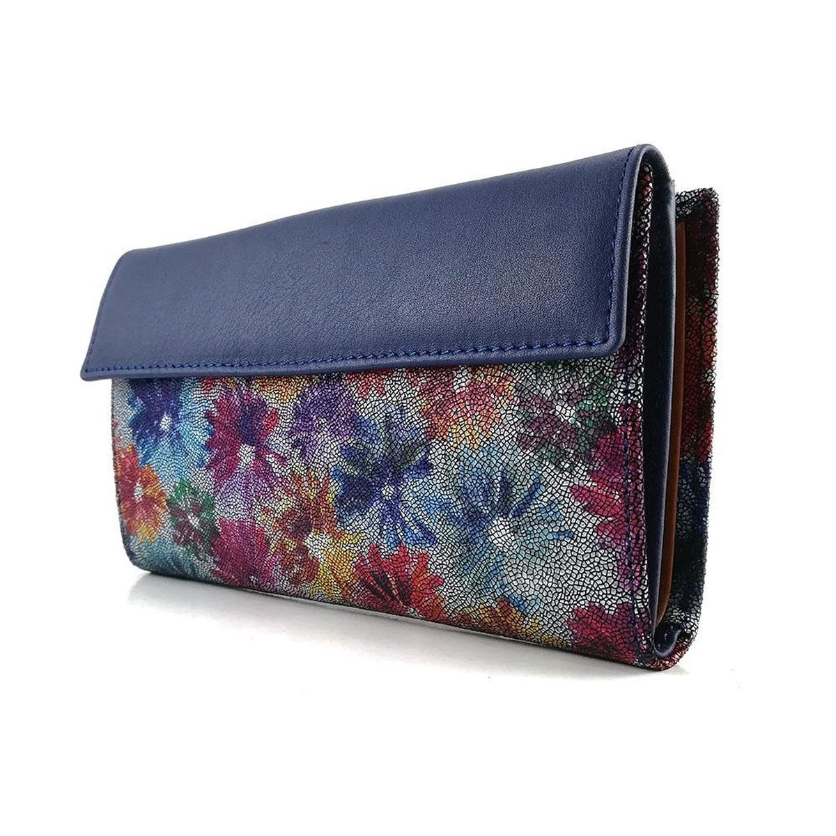 | Casanova Dames Portemonnee L Azul Blauw | Flores