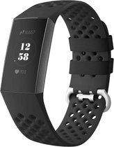 Fitbit charge 3 & 4 sport point band - zwart - ML - Horlogeband Armband Polsband