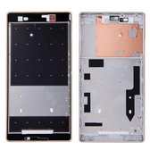 Let op type!! Front Housing Replacement with Adhesive Sticker for Sony Xperia T2 Ultra(Black)