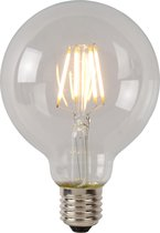 Lucide LED BULB Filament lamp - Ø 9,5 cm - LED Dimb. - E27 - 1x5W 2700K - Transparant