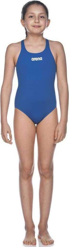 Arena Solid Swim Pro Badpak Junior Badpak - Maat 128  - Meisjes - blauw