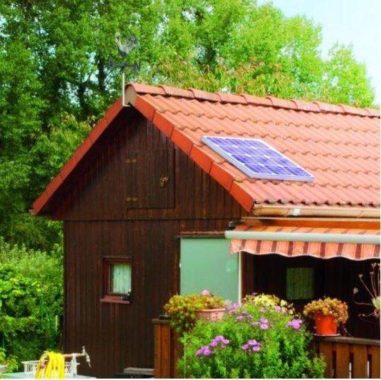 Esotec Solar netsysteem, 20 W, inclusief batterij en stekkerdoos