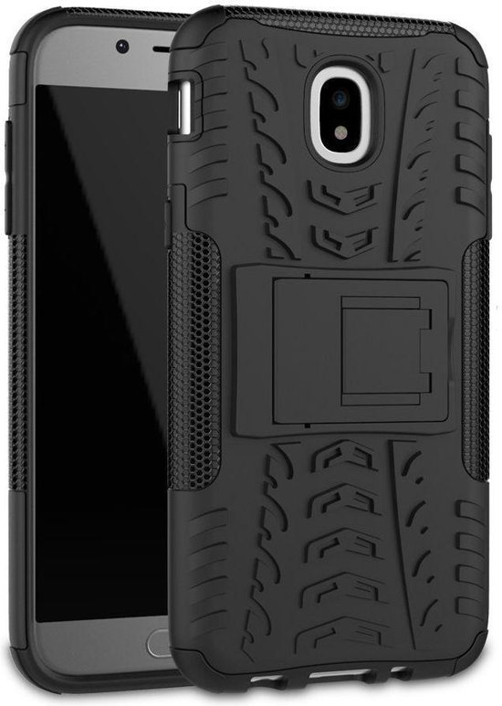 Samsung Galaxy J5 (2017) Robuust Hybride Hoesje Zwart