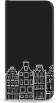 Samsung Galaxy J6 (2018) hoesje Amsterdam Canal Houses White Casetastic Smartphone Hoesje Wallet Cases case