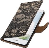 Wicked Narwal | Lace bookstyle / book case/ wallet case Hoes voor Huawei Nova Zwart