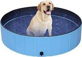Dog Pool | Zwembad voor Honden | Hondenzwembad | Opvouwbaar | Puppy | Kitten |Kat | Huisdier  | Blauw