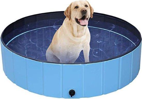 Dog Pool   Zwembad voor Honden   Hondenzwembad   Opvouwbaar   Puppy   Kitten  Kat   Huisdier   Blauw