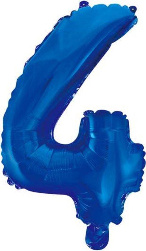 Folieballon 4 jaar blauw 86cm