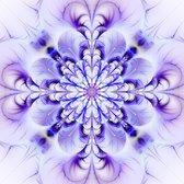 Flower of life - VIERKANT 120x120, kunst op plexiglas. Bestel uw plexiglas schilderij bij The Art of Interior!