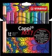 STABILO Cappi Viltstiften ARTY - Etui 12 kleuren