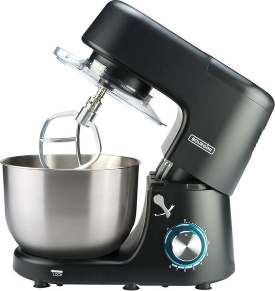 Bourgini keukenmachine Classic Kitchen Chef XL - zwart