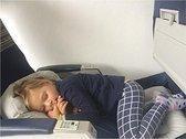 Fly Legsup - Vliegtuigbedje (0-9 jaar) - 3 hoogtestanden - Reiskussen - Slapen in het vliegtuig - Kinderbedje - Voetensteun - Opblaasbaar - Grijs