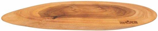 Pure Teak Wood Borrelplank +/- 60 cm - Cadeau tip!