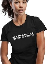 Sol's No Justice, No Peace -  BLM | George Floyd |  I Can't Breathe  | Stop Racisme | Black lives matter Dames T-shirt XXL