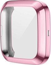 Full Cover Bumper voor Fitbit Versa 2 – Siliconen Case Screenprotector Bescherming Hoesje – Rose Gold