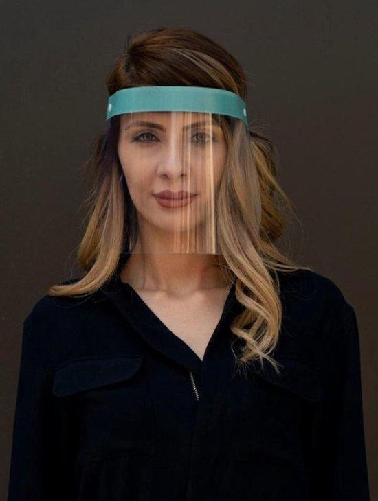 Afbeelding van Gelaatscherm Spatscherm Gezichtsmasker Gezichtsscherm - Elastische hoofdband
