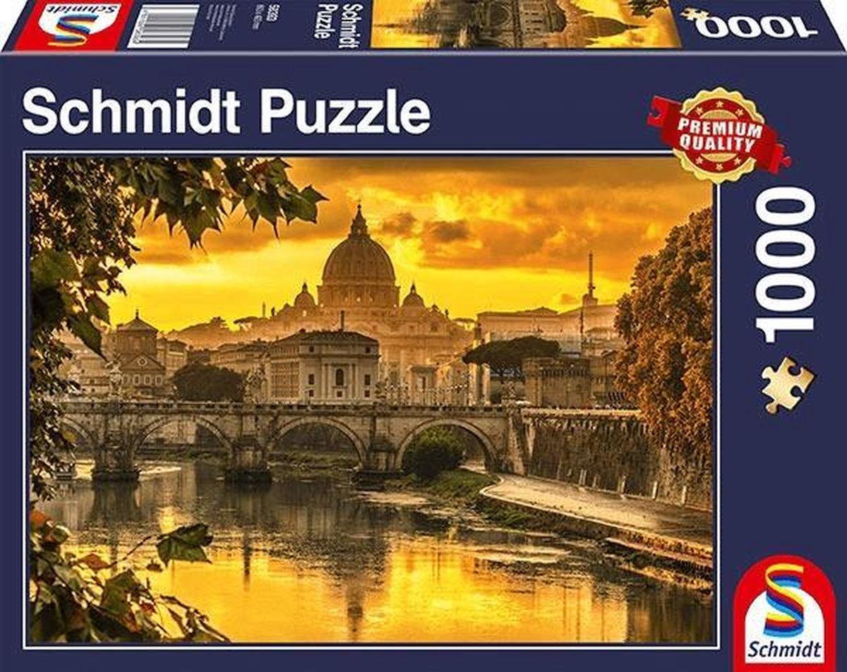 Gouden Licht Boven Rome, 1000 stukjes Puzzel