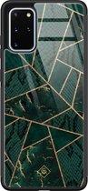 Samsung Galaxy S20 Plus glazen hardcase - Abstract groen
