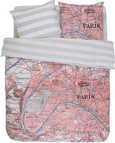 100% katoen dekbedovertrekset 240x220 cm + 2 slopen 60x70 cm PARIS CITYMAP - Covers & C°