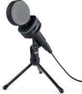 AUKEY MI-W1 condensatormicrofoon met statiefhouder en microfoon Audio Volumeregeling voor pc, laptops, smartphone, audio-omzetter