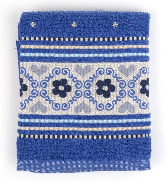 Keukendoek Bunzlau Castle Blossom 53x60cm, blauw - 6 pack
