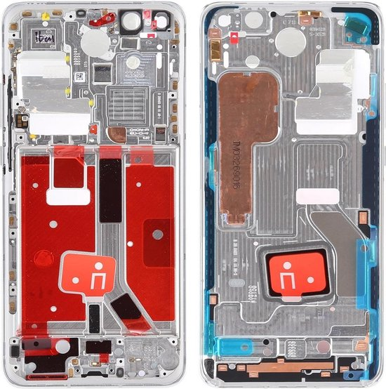 Originele middenkaderring met zijtoetsen voor Huawei P40 Pro (zilver)