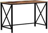 MIRA Home Bureau - Computertafel - Hout/Metaal - Industrieel - Bruin/zwart - 115x60x76