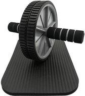 Ab Wheel Met Gratis Fitness Knie Mat - Roller & Fitnessmat - Trainingswiel - Buikspierwiel - Buikspier wiel