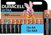 Combi Deal / Duracell Ultra Power Duralock Alkaline 12x AA + 12x AAA