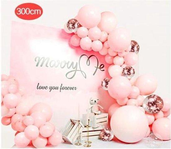 Luxe Ballonnen Boog Roze - 80stuks -3meter - Bruiloft - Verjaardag - Babyshower- Jubilieum - Feest decoratie - Kinderfeest - Gala - Doe het zelf ballonboog