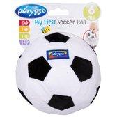 Playgro Baby Pluche Voetbal Zwart Wit met belletje