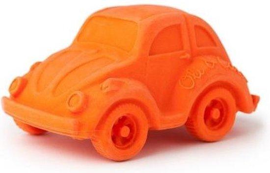 Oli & Carol - Auto'tje van 100% natuurrubber (oranje)