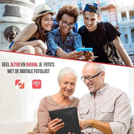 Digitale fotolijst | 10.1 Inch | WiFi | Touchscreen | USB | SD | Frameo software via App | Zwart