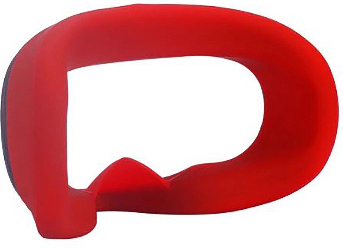Zachte Siliconen VR Oogmasker - Kussen - Skin voor Oculus Quest | Rood | Bescherming voor VR Brillen