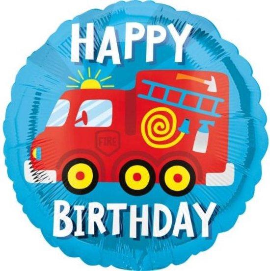 Folie Ballon Brandweer - verjaardag- 43 cn