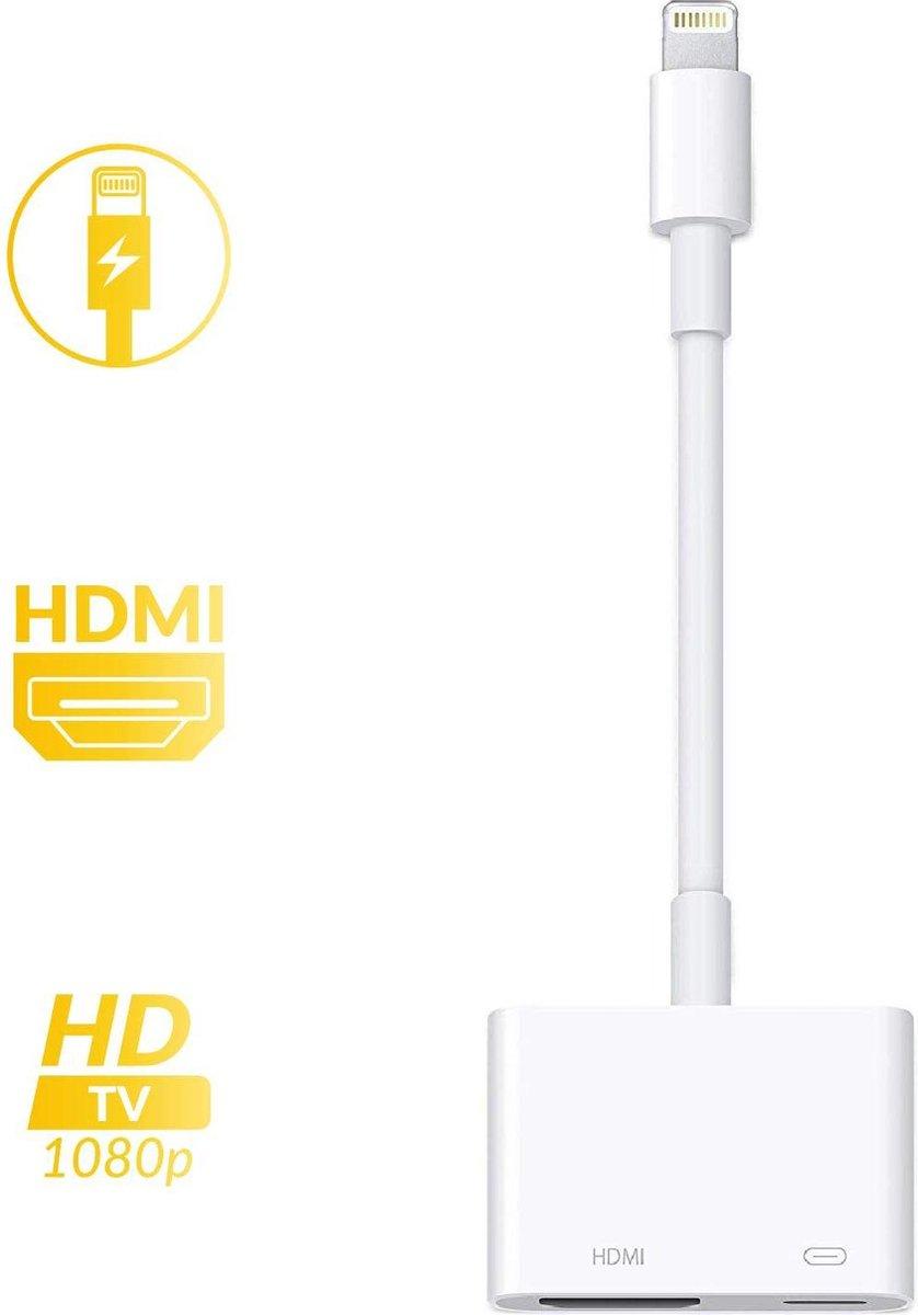 Lightning Digital AV Adapter voor iPhone, iPad, iPod adapter naar 1080P HDMI