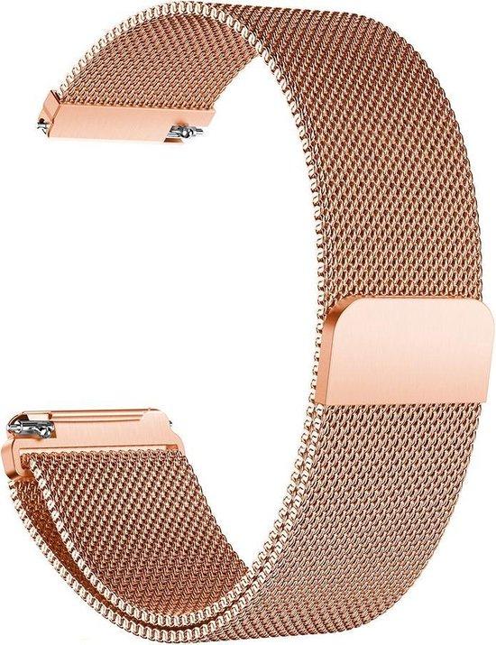 Milanees bandje geschikt voor Fitbit Versa roségoud (Versa 2, Versa Lite)