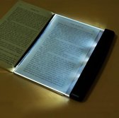 WiseGoods Platte Leeslamp LED - Lightpad - Boek Lamp Pagina - Boekenlegger Lamp - Bladzijde Verlichting - 14.5 x 17.2 x 1.5cm