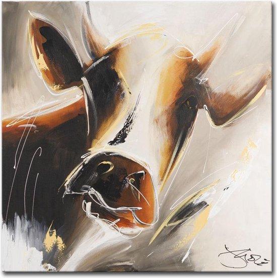 Schilderij - Mysterieuze koe