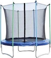 Trampoline - 244 cm - met veiligheidsnet - blauw