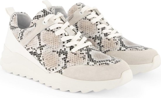 Travelin' Withnell - Leren sneaker dames - Slangenprint - Maat 37