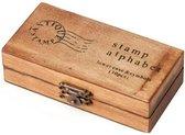 Stempeldoos hout - Alfabet - 30 letters en symbolen -  voor volwassenen - stempelset